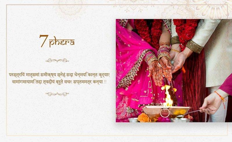 last phera of hindu marriage
