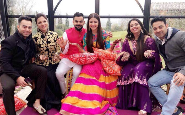Mehendi Function of Virat Anushka