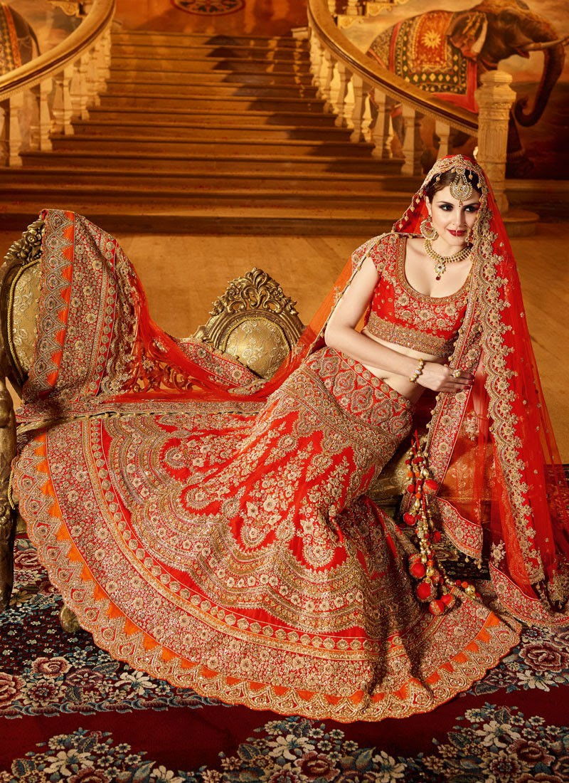 Bridal lehenga Designs and Colors