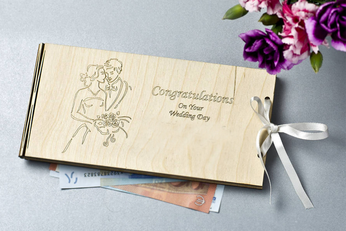cash envelope for wedding gift