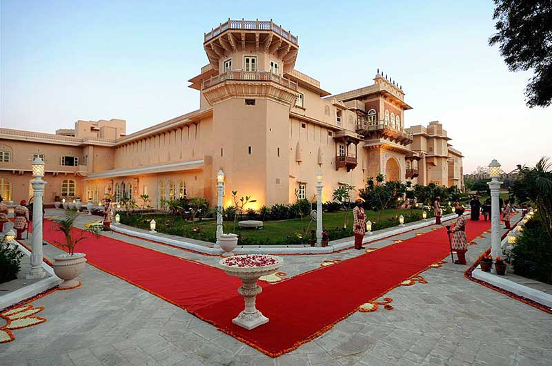 Chomu Palace Hotel in Rajasthan