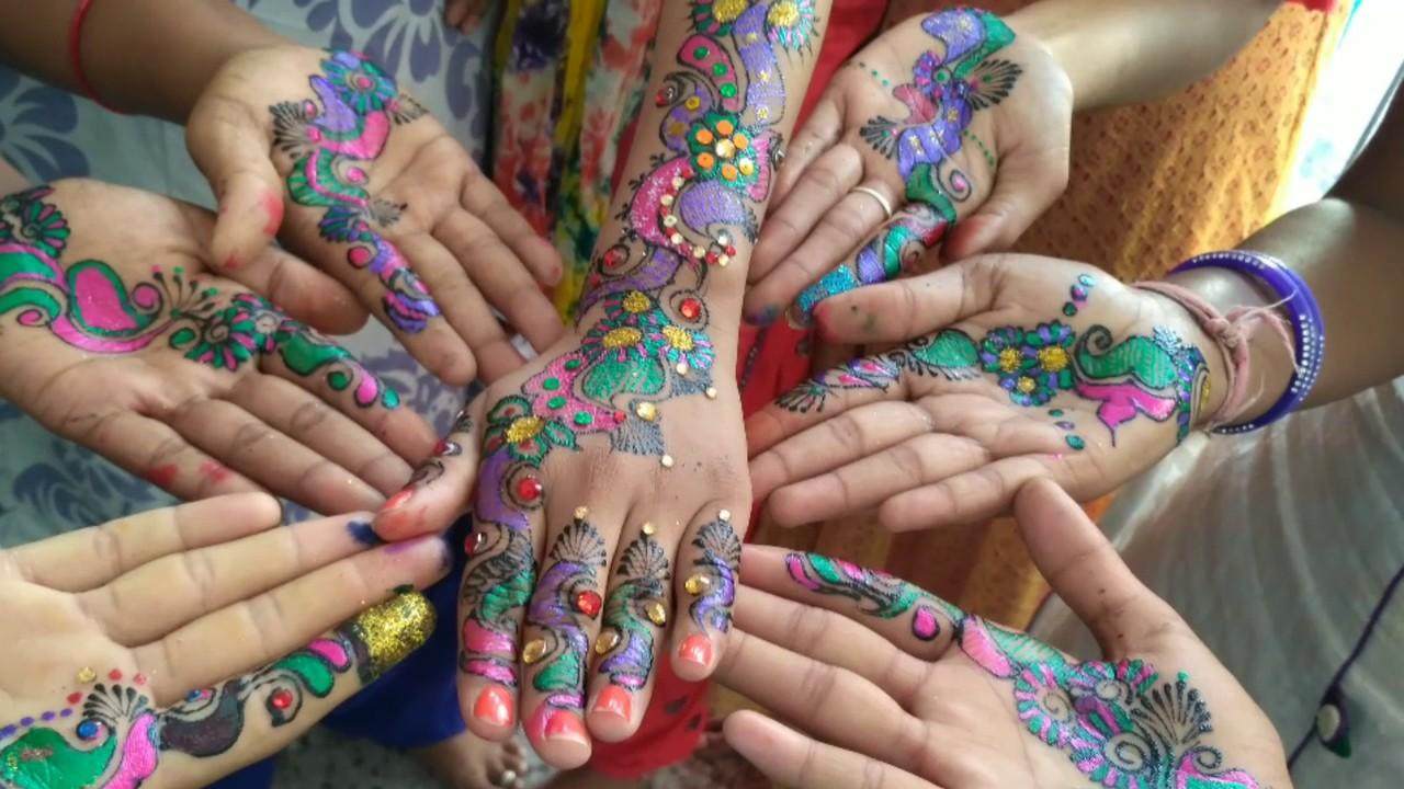 Colored Mehandi Designs