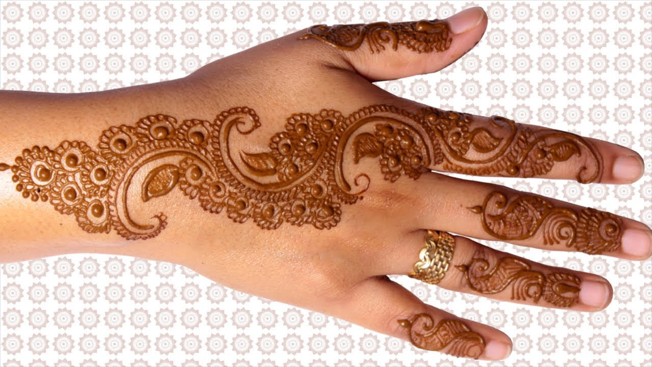 Curve Mehandi Designs