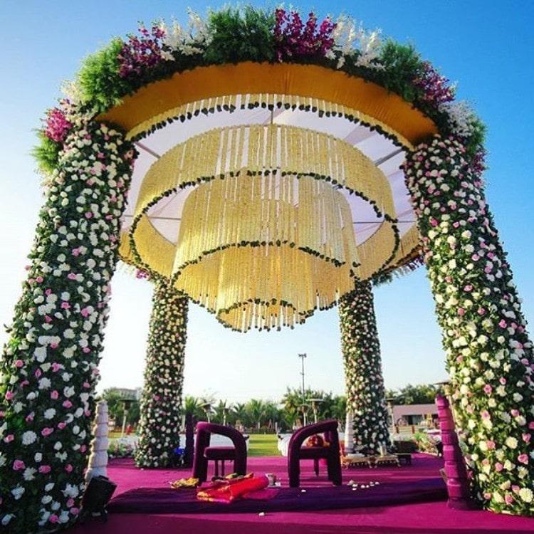 decoration of mandap