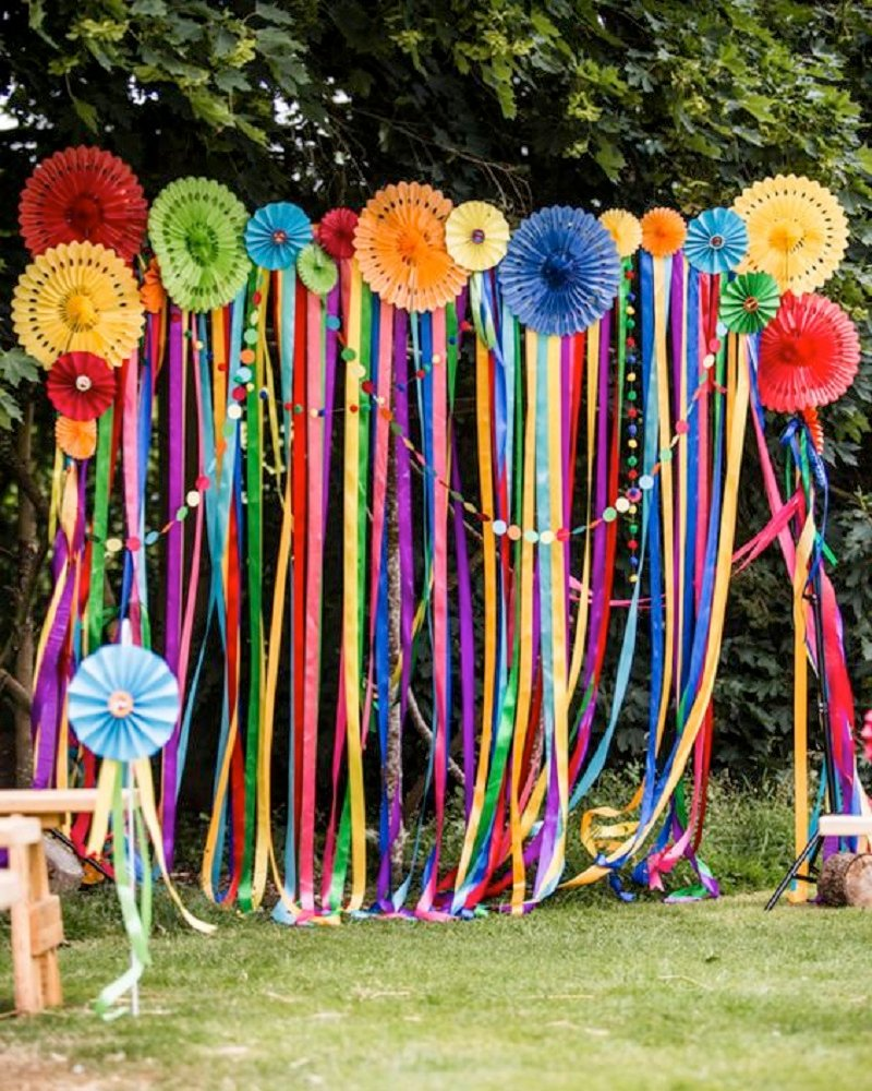 Colorful Laces Everywhere wedding decor ideas