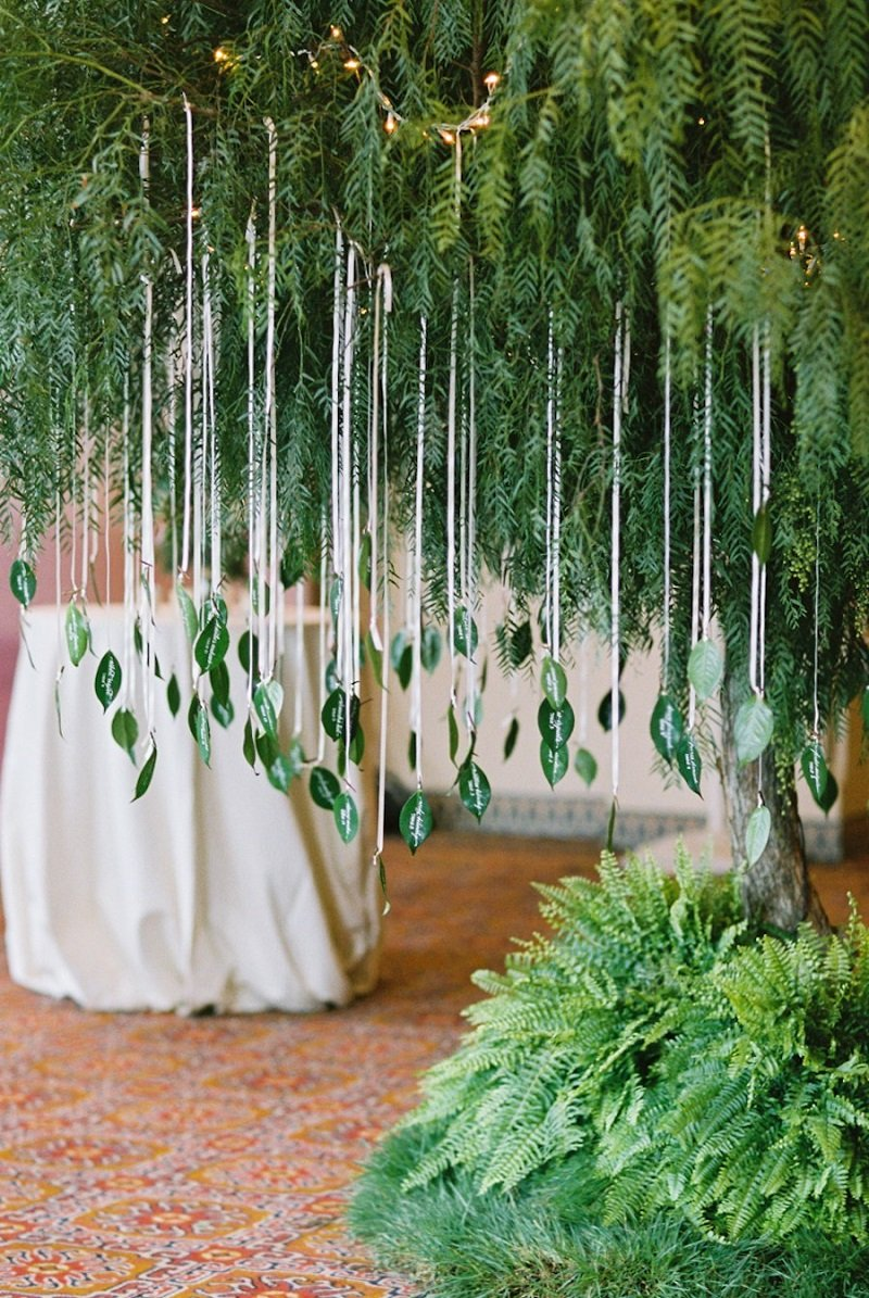 Real Leaves Clipped/Eco-Decor wedding decor ideas