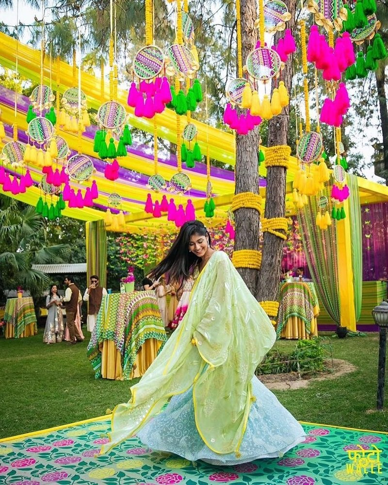 Beautiful Colorful Tassels wedding decor ideas