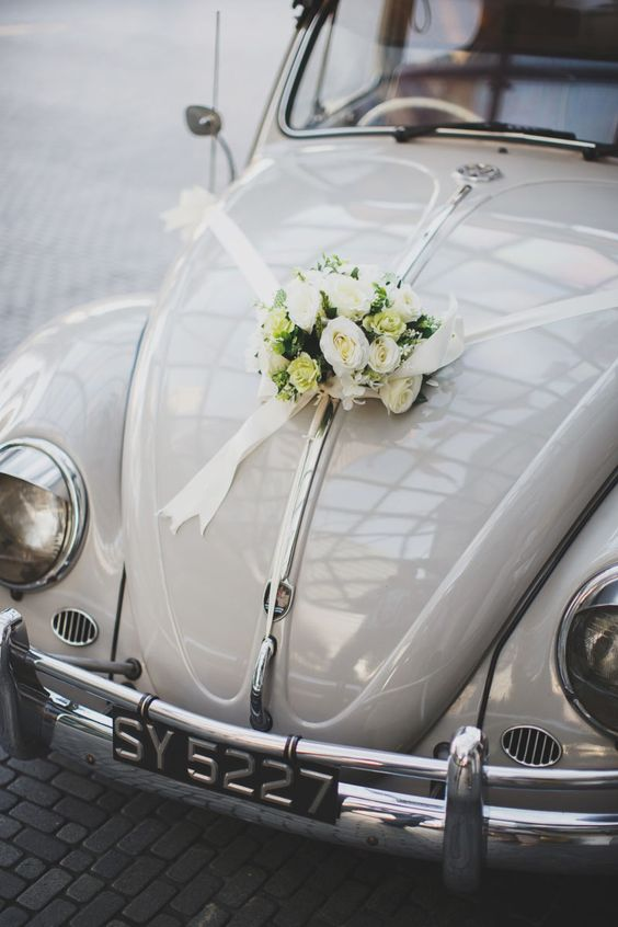 wedding car decoration With Flowers