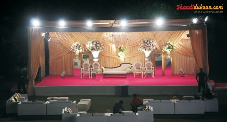 small but sweet wedding stage