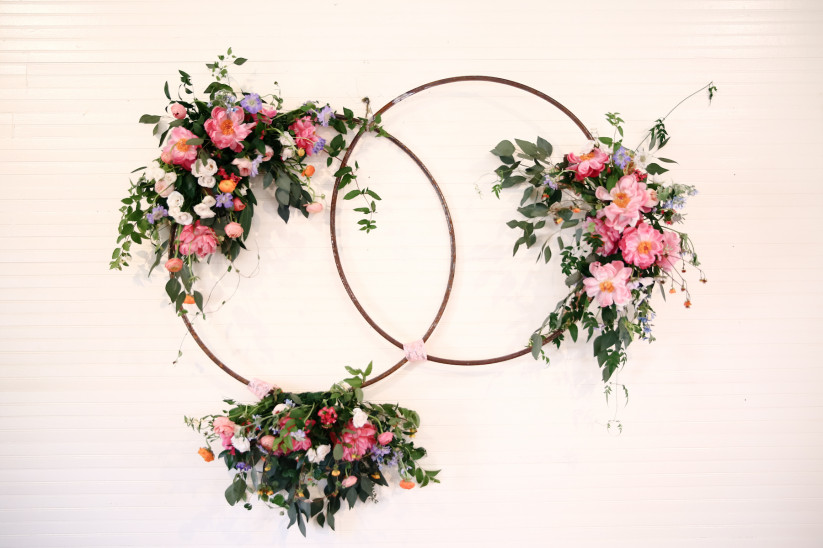 Hoops Floral Decoration