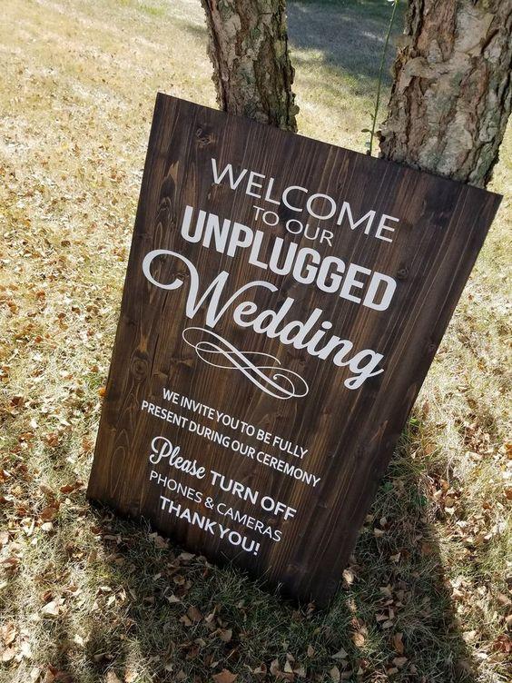 unplugged wedding ceremonies- destination wedding trend 2019