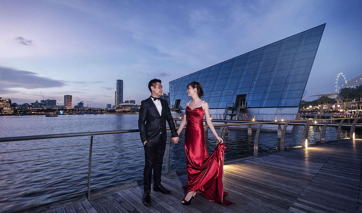 Marina Bay Stands Destination Wedding