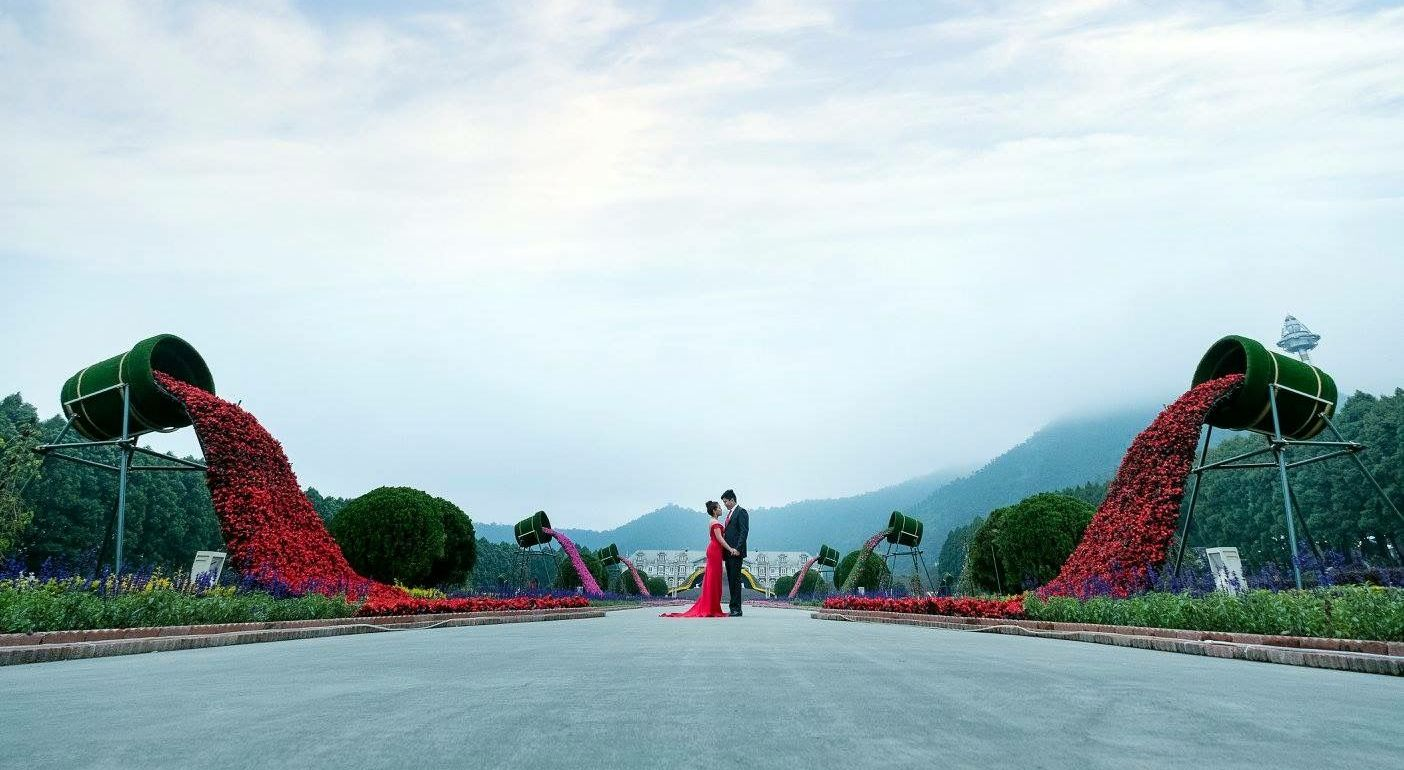Sun And Moon Lake Destination Wedding