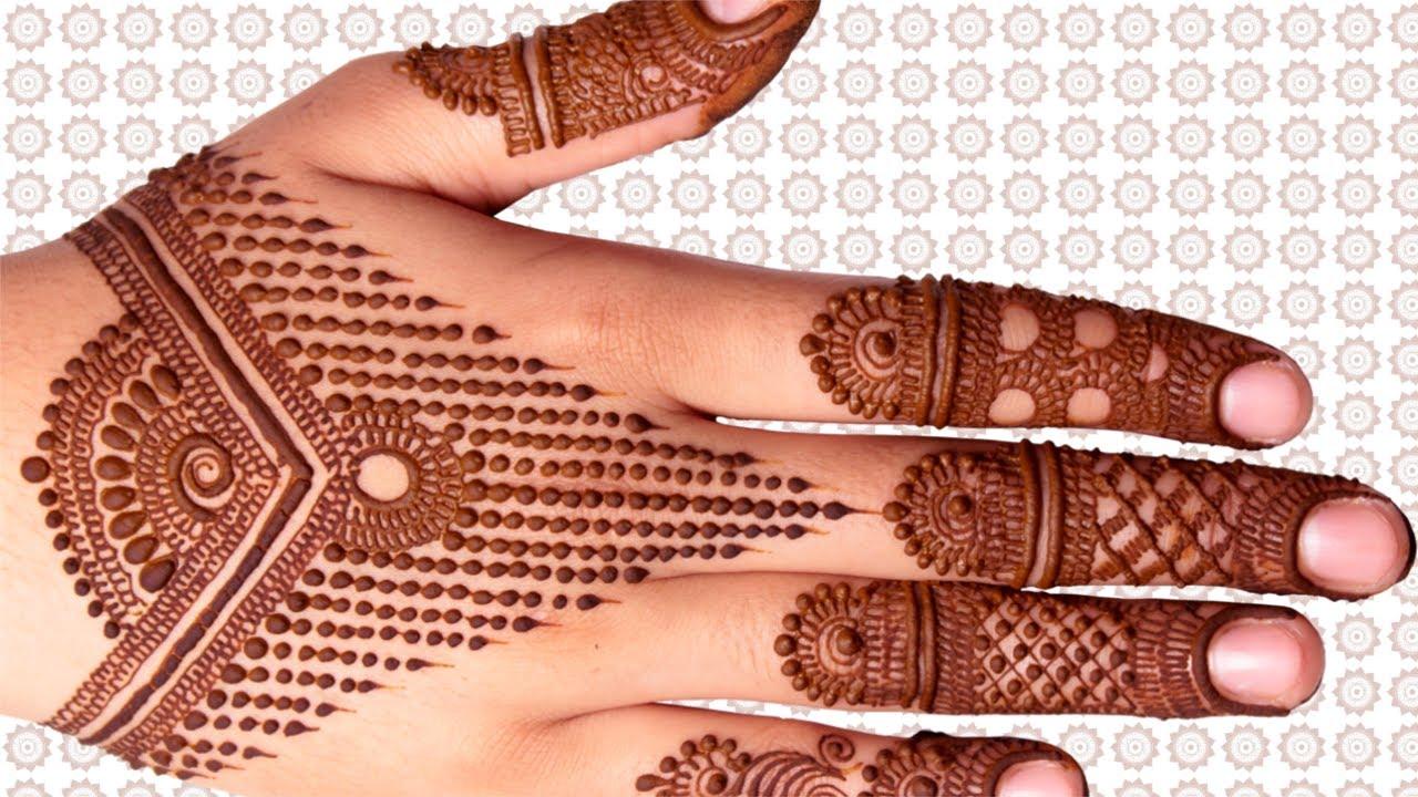 Simple Dots Line Mehandi Design