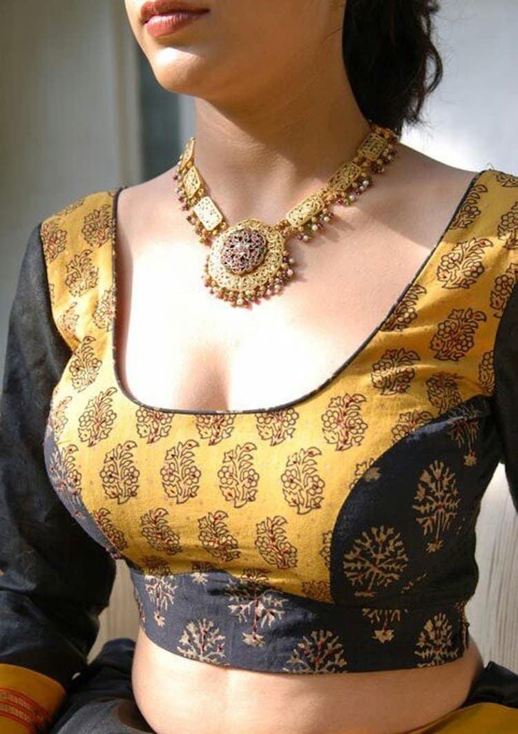 plain blouse design