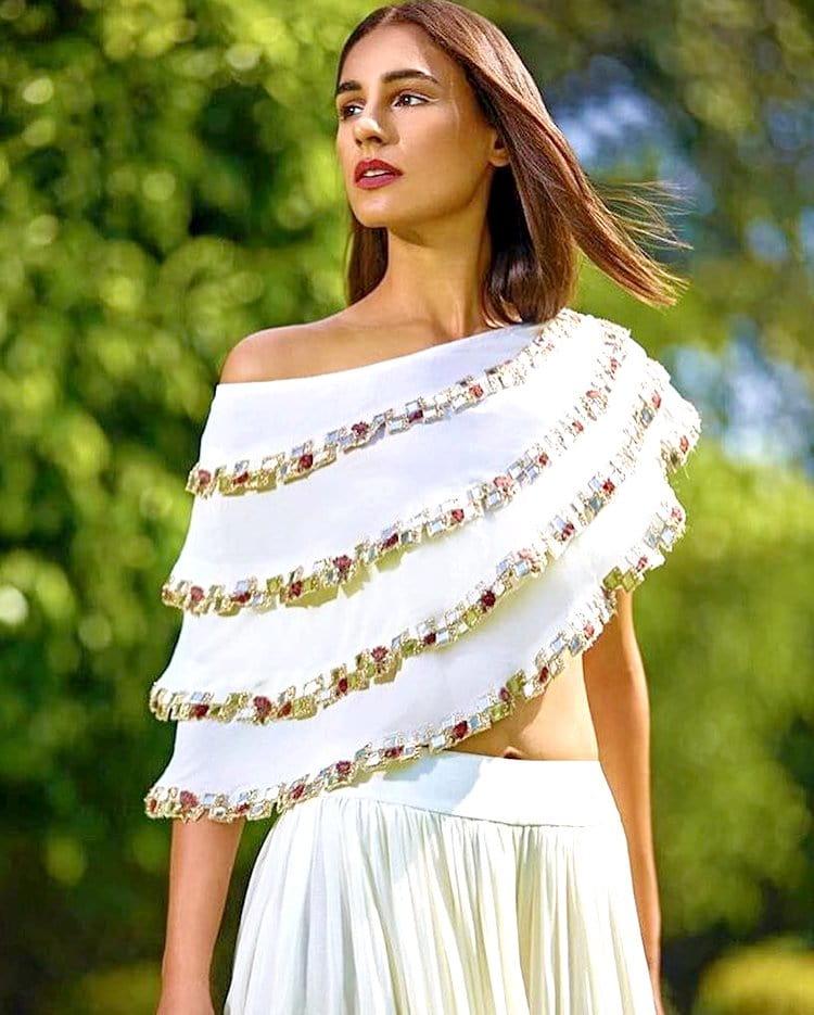 one side off shoulder blouse design