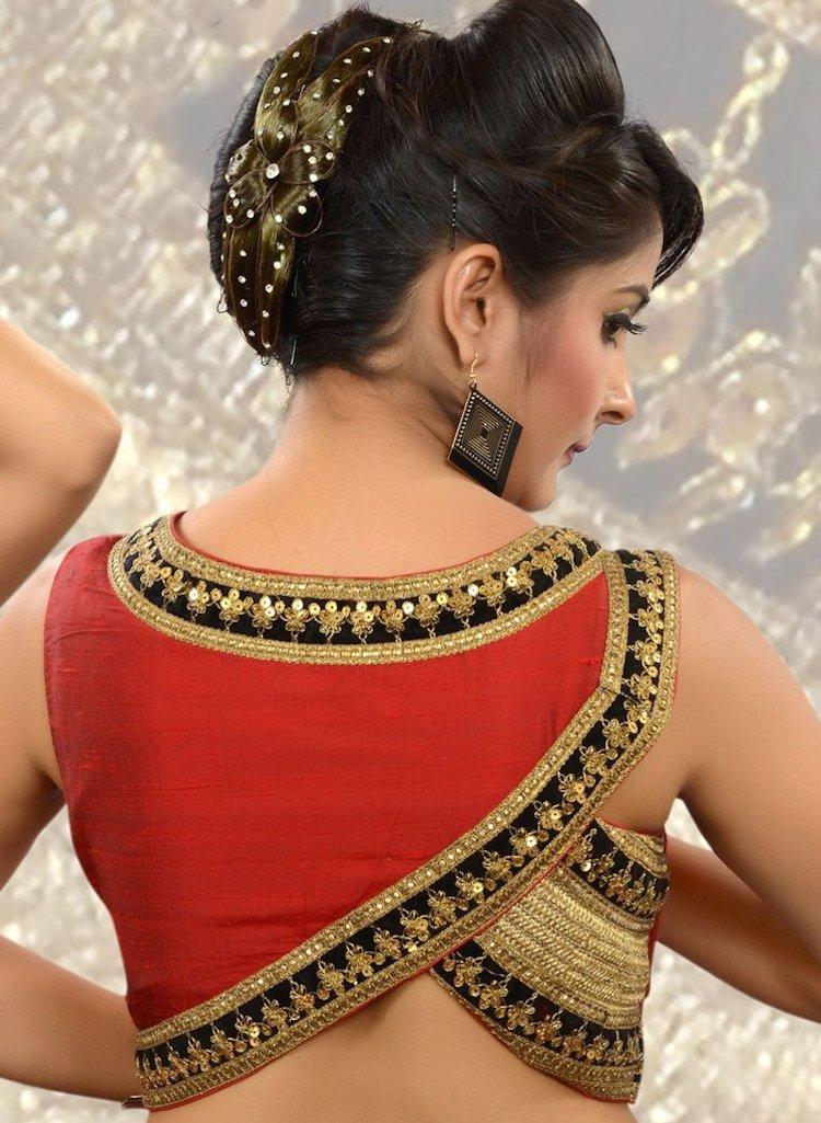 asymmetrical blouse design