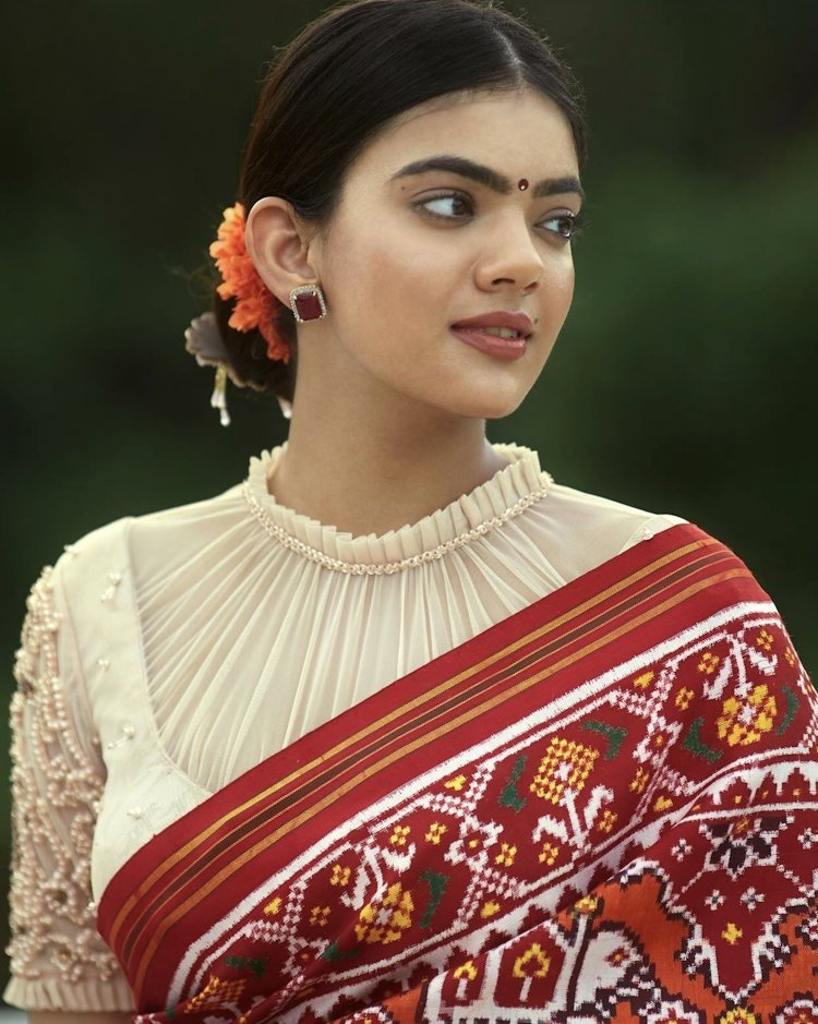 ruffled neck blouse design