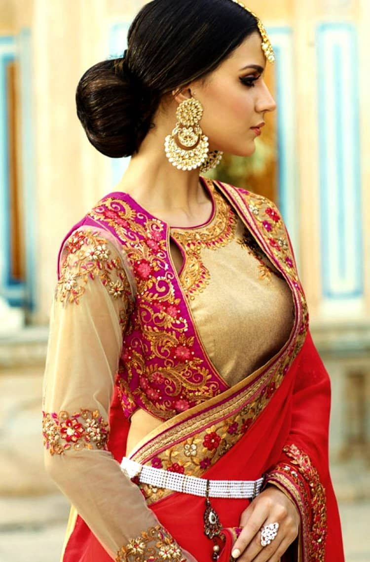 angrakha blouse design