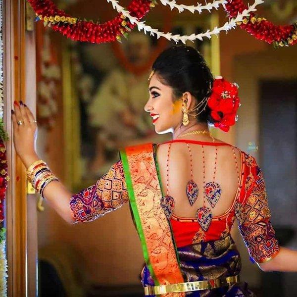 bridal blouse designs 2019