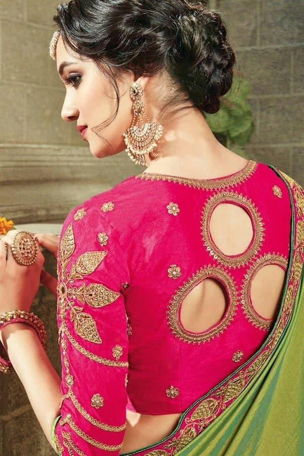 blouse design in back side