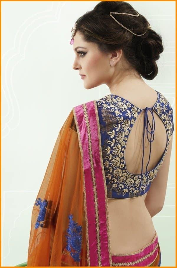 designer saree blouse designs