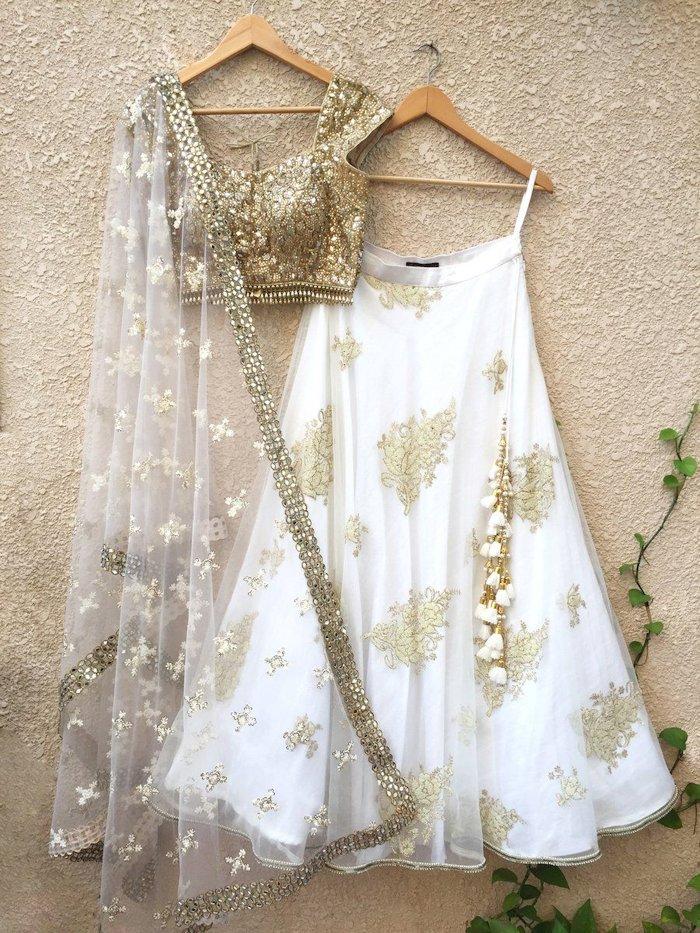 Gold Taari (Thread) Lehenga