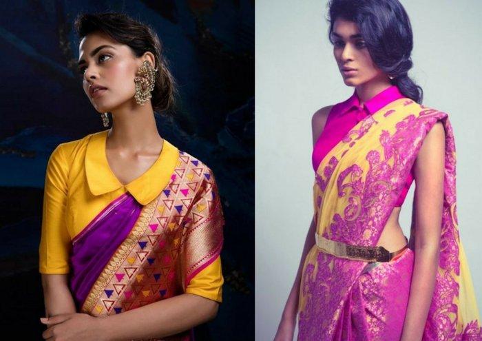 Nehru Collar Blouse Design