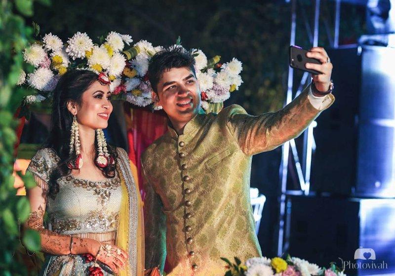 Manas In His Glittering Golden Sherwani