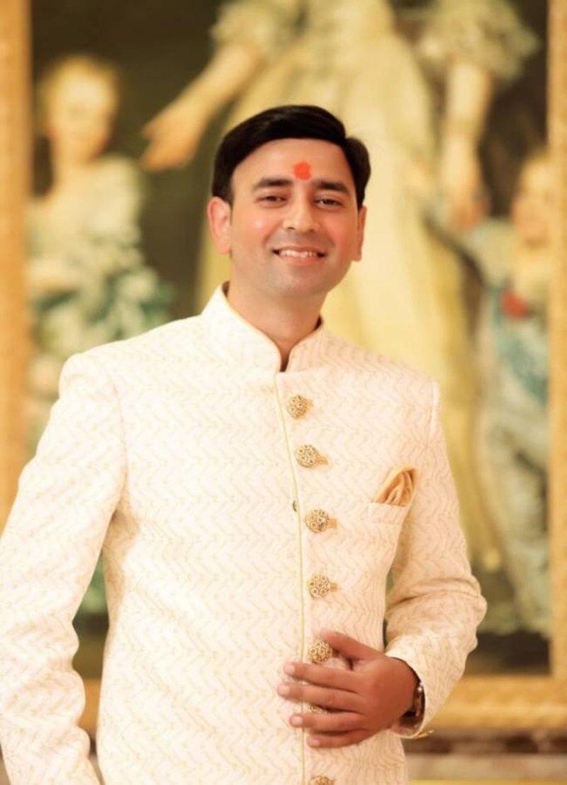 Tarun In His Gleaming White Sherwani