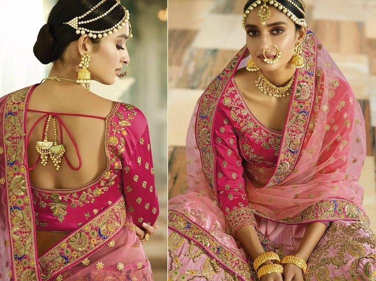 Designer Velvet Pink Blouse