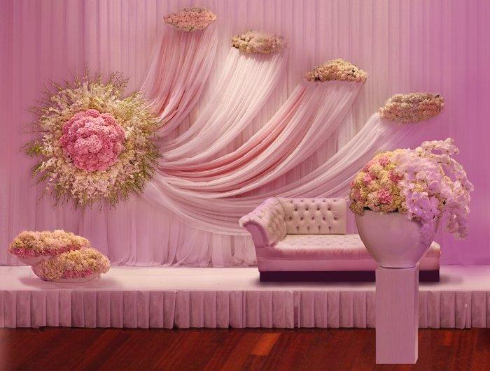 Floral Backdrop Stage Decoration