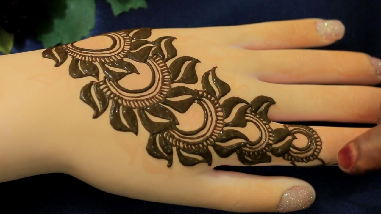 Flower Mehandi Designs