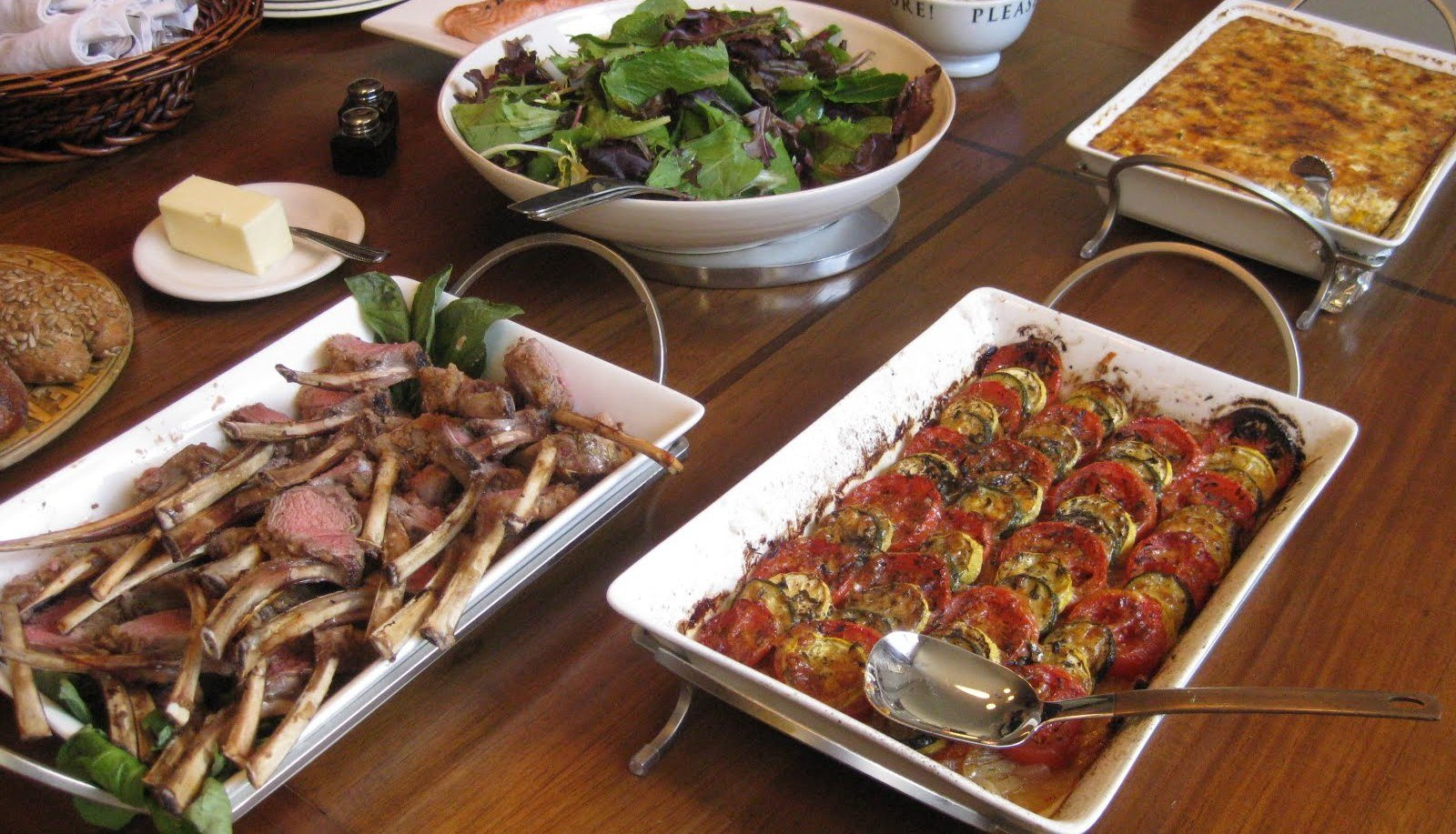 Selection of the cuisine for wedding