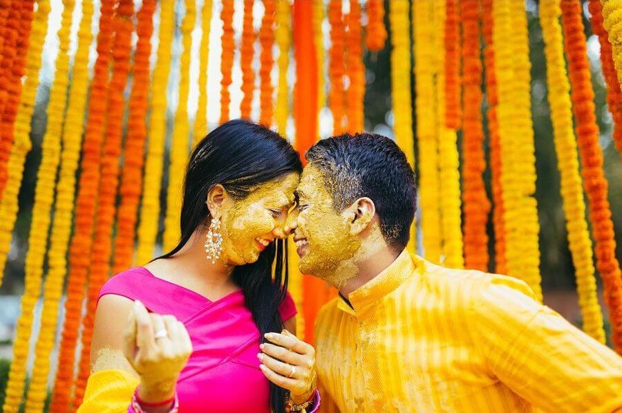Haldi Function Together ideas
