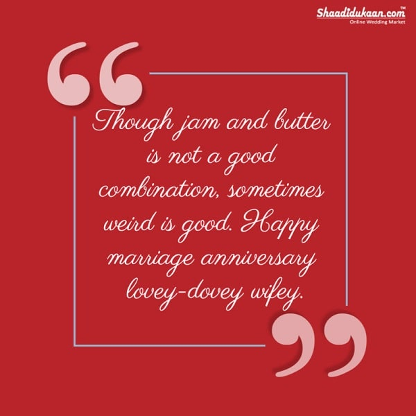 funny wedding anniversary messages for wife