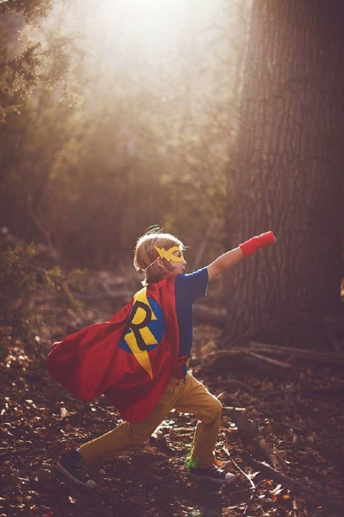 baby superhero inspired photo shoot