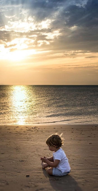 baby on beach photo