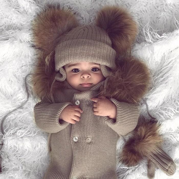 winter baby photoshoot ideas