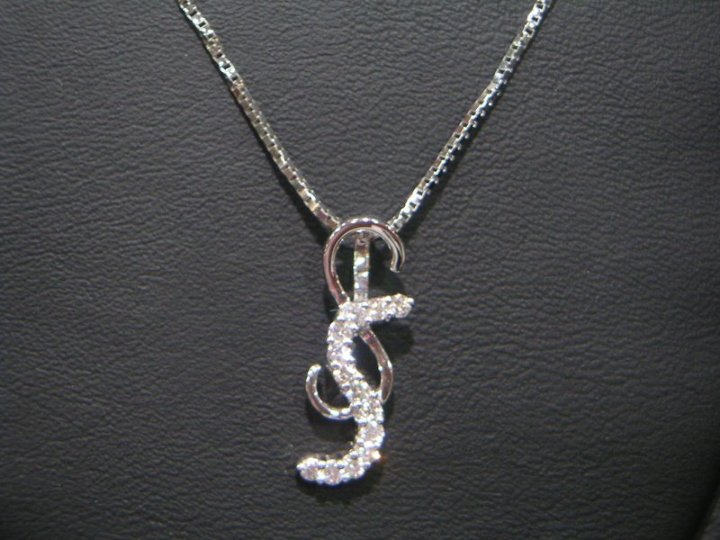 Platinum Chain with Your Initial, Forever Love