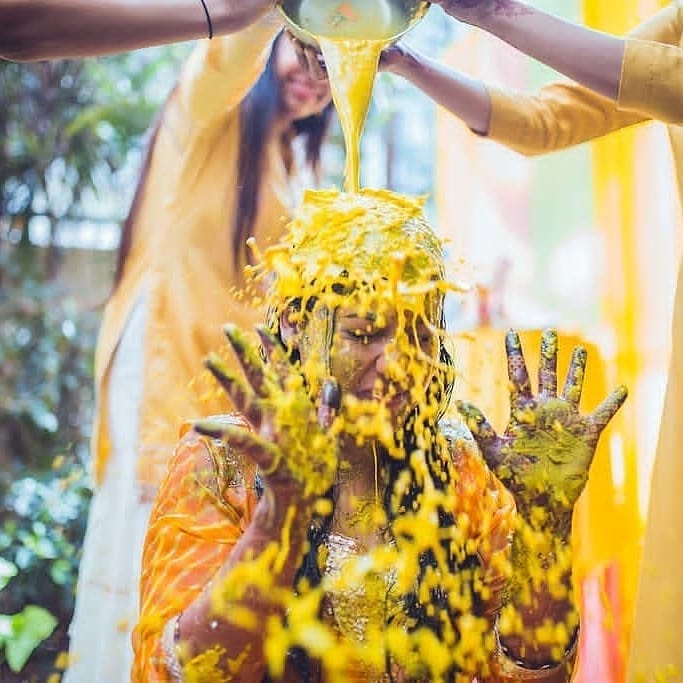 haldi bath ceremony ideas