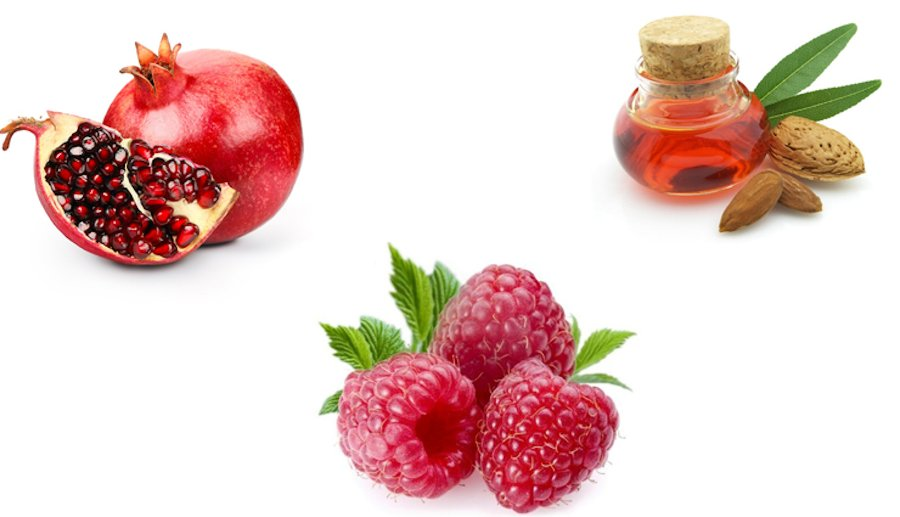 Blend of Natural Pomegranate, Raspberry and Sweet Almond Oil for Soft Skin