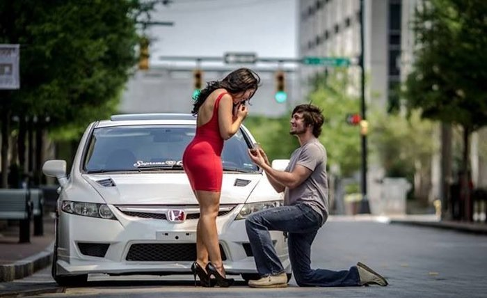 romantic marriage proposal idea at long drive
