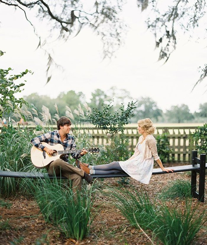 romantic proposal idea - sing a song