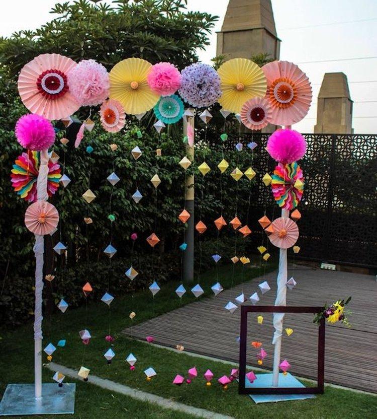 Fancy & Hanging Sangeet Photobooth Ideas