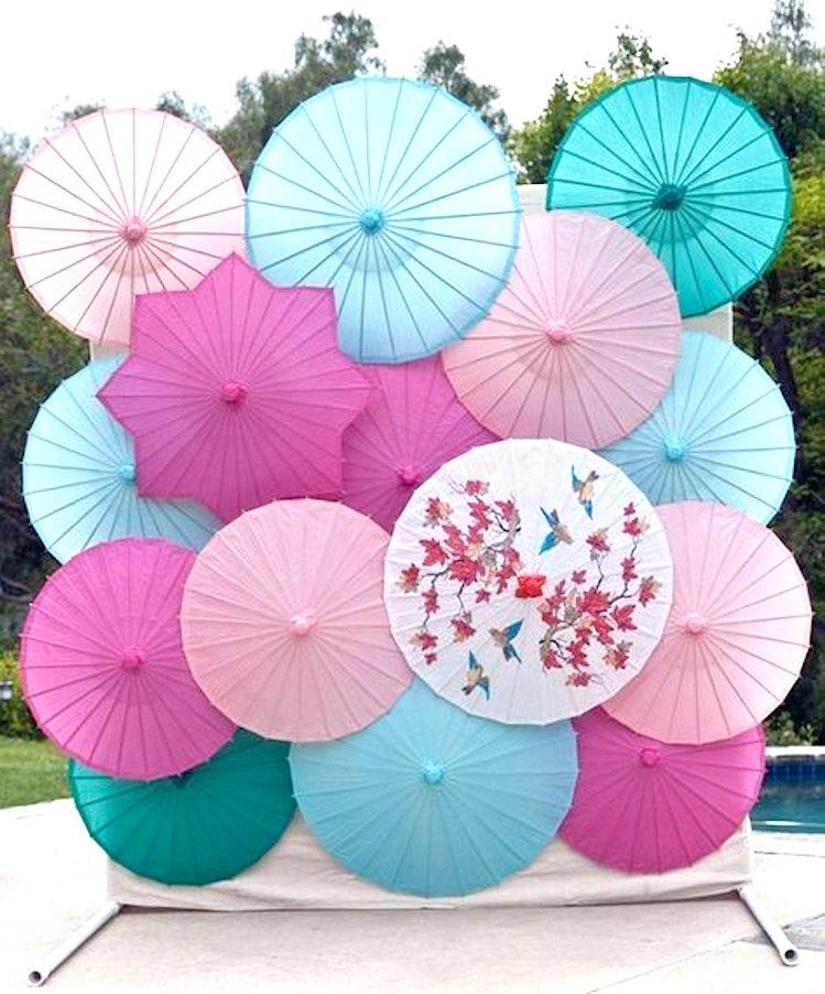 wedding photo booth umbrella ideas