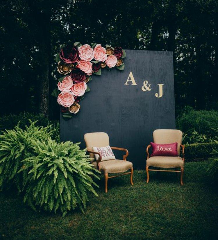 easy wedding photo booth ideas