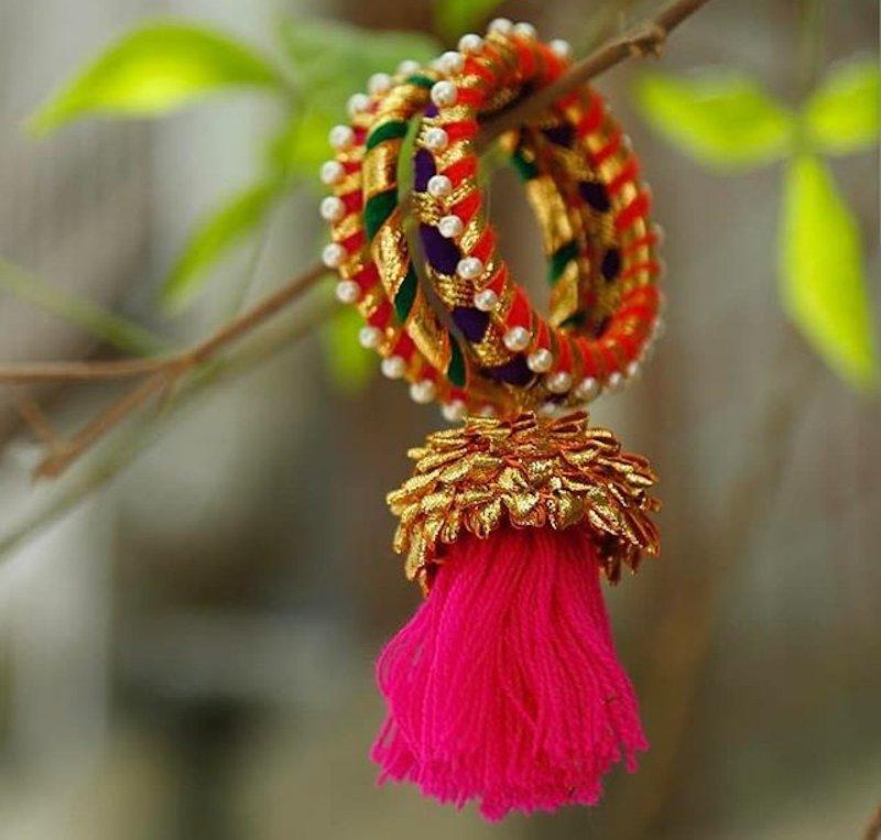 Gota Patti thread bangles