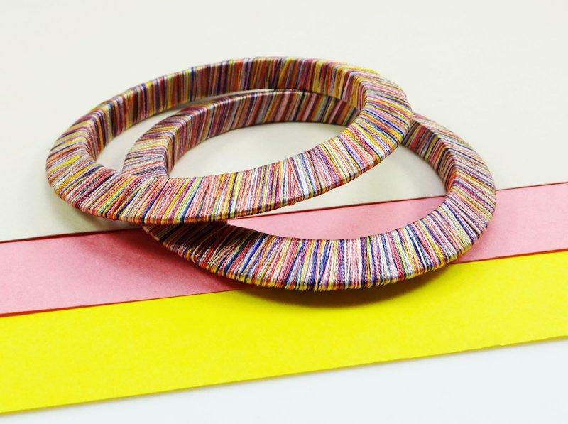 multi colored thread bangles