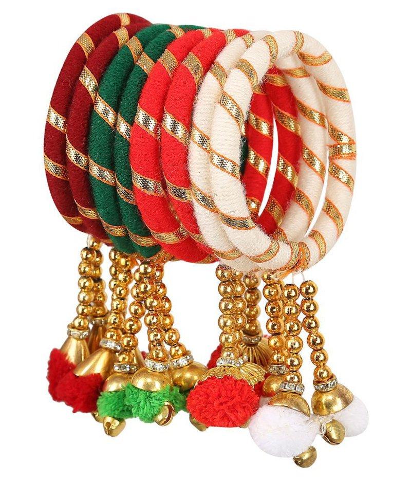 thread bangles with latkan